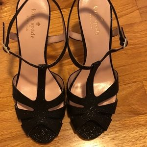 Kate Spade Strappy Black Heels Size 8